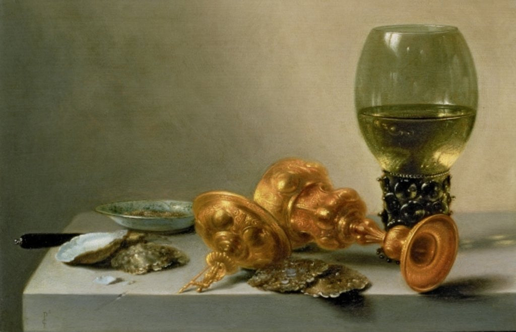 Detail of A Still Life with a Roemer and a Gilt Cup by Pieter Claesz