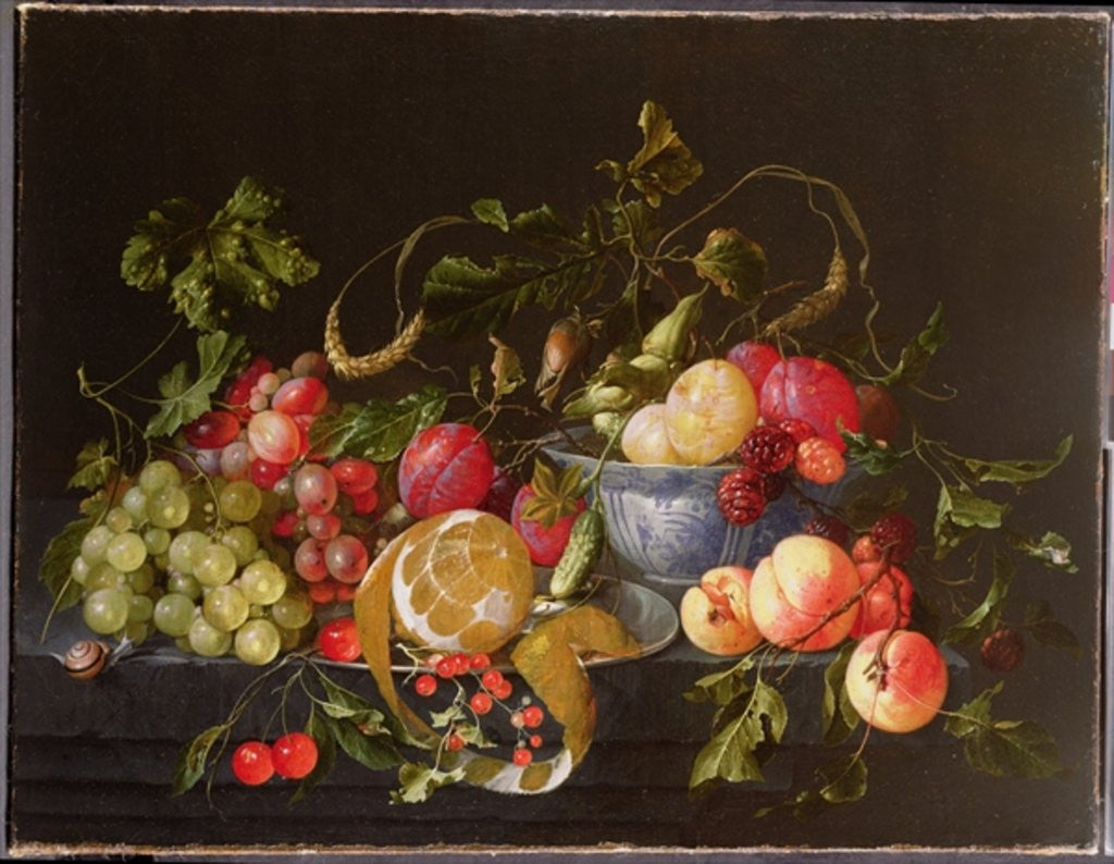 Detail of A Still Life of Fruit by Cornelis de Heem