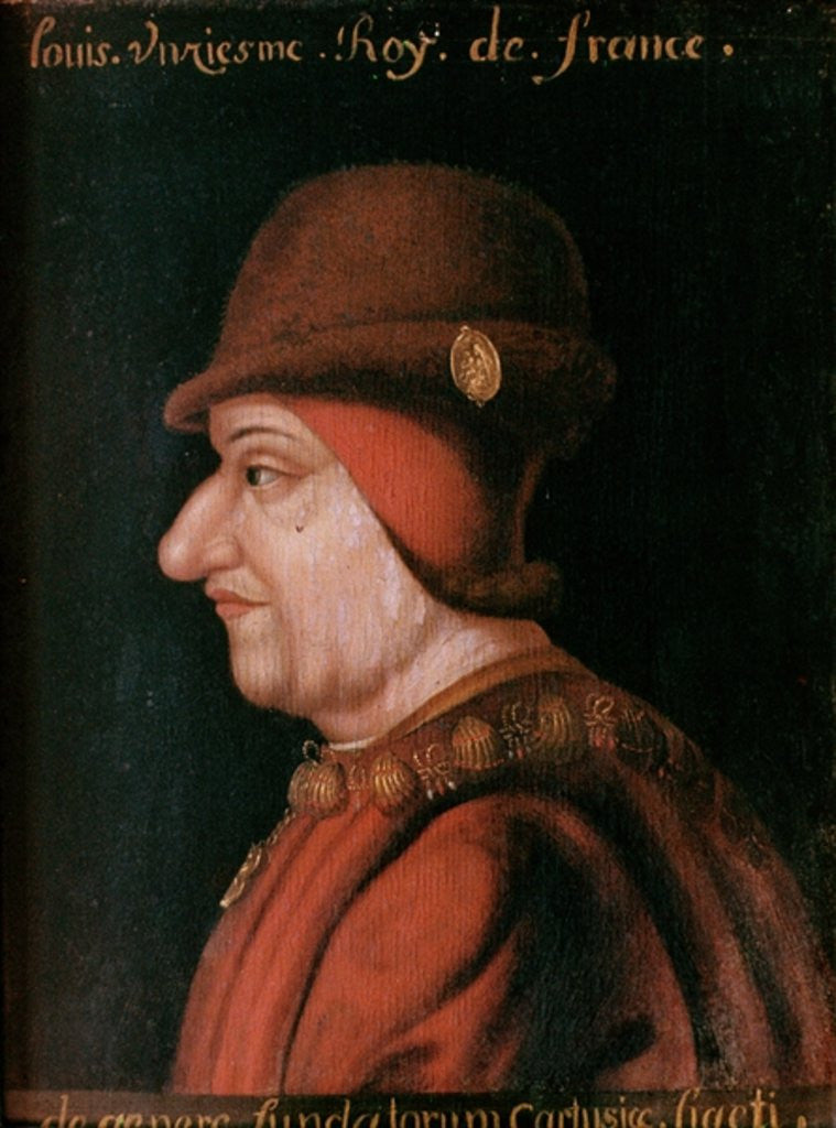 Detail of Louis XI by French School