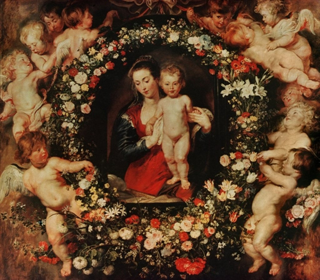 Detail of Virgin with a Garland of Flowers by Peter Paul Rubens