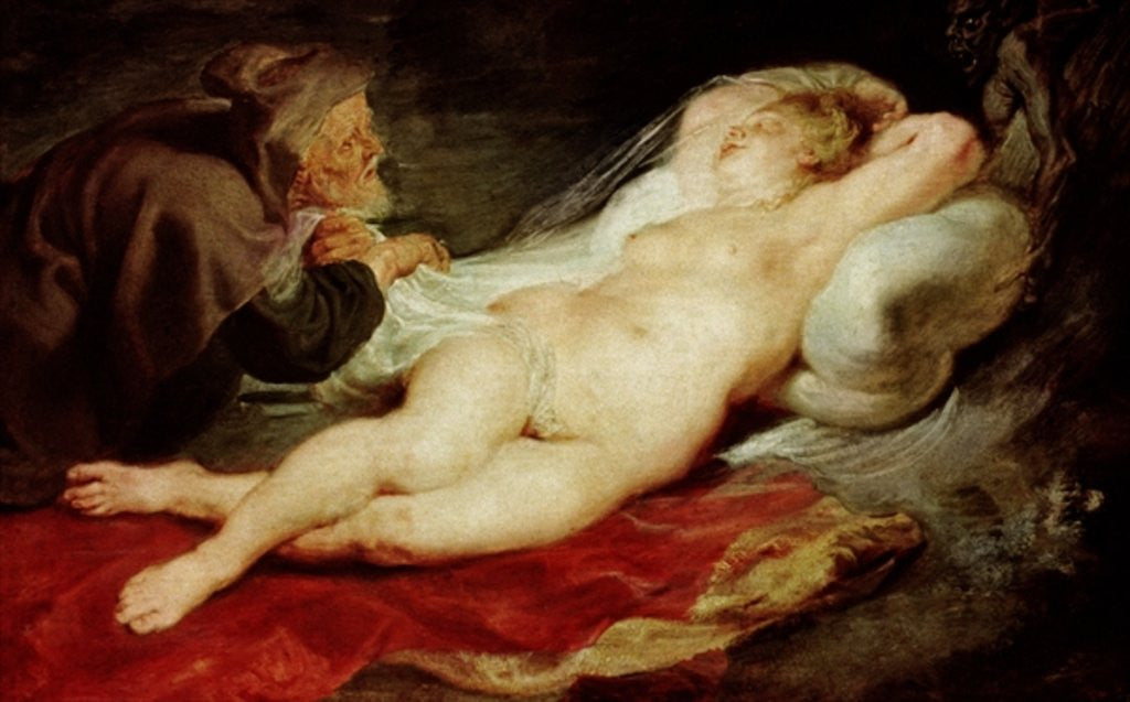 Detail of The Hermit and the sleeping Angelica by Peter Paul Rubens