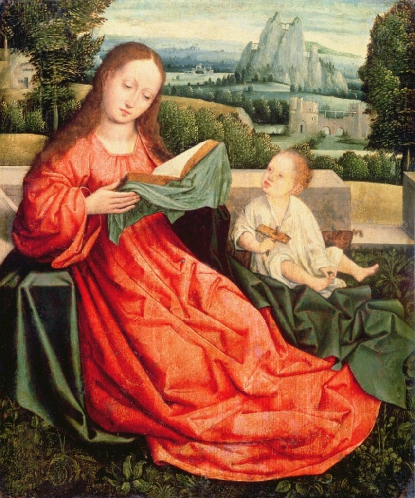 Detail of The Madonna and Child by Flemish School
