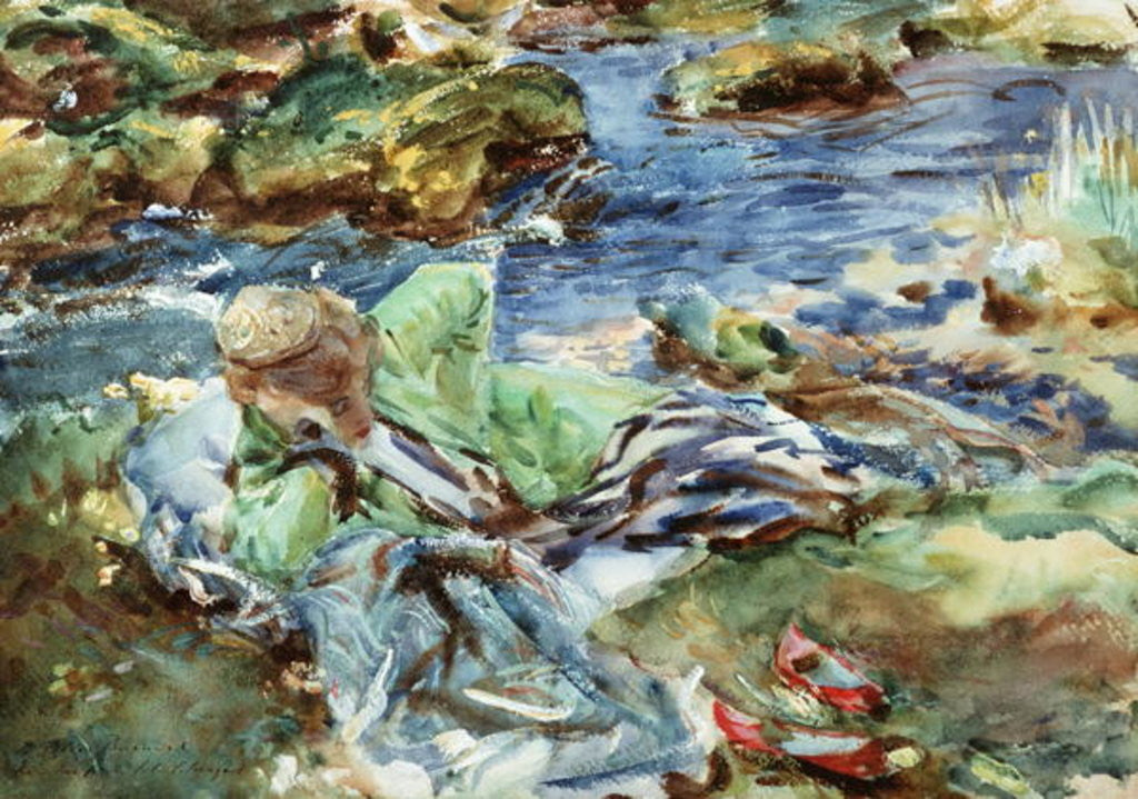 Detail of Turkish Woman by a Stream by John Singer Sargent