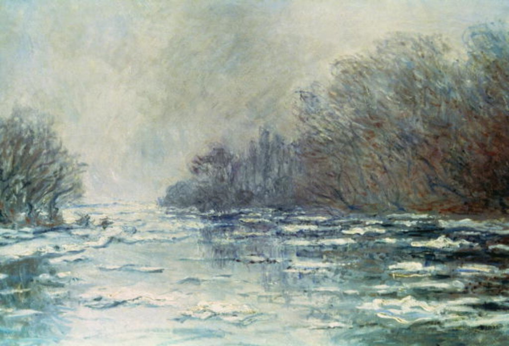Detail of The Break up at Vetheuil by Claude Monet