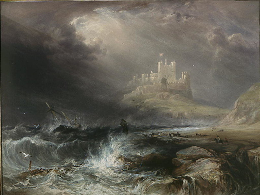 Detail of Bamburgh Castle, Northumberland by William Andrews Nesfield