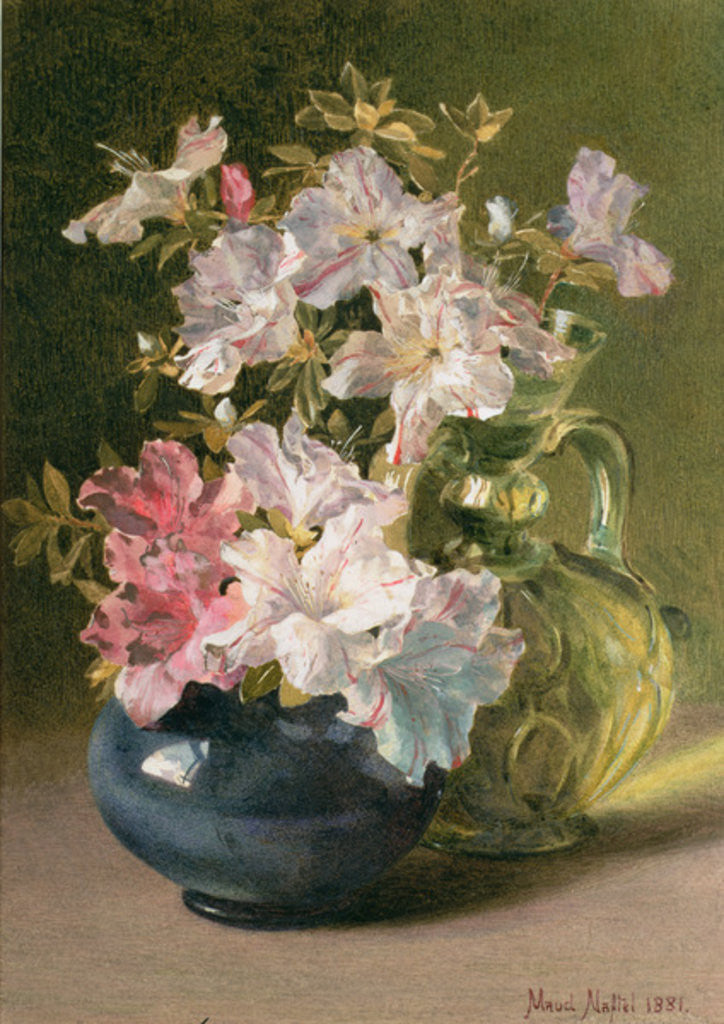 Detail of Azaleas in a Jug by Maud Naftel