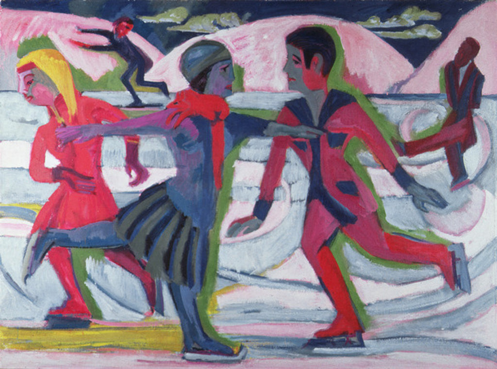 Detail of Ice Skaters by Ernst Ludwig Kirchner