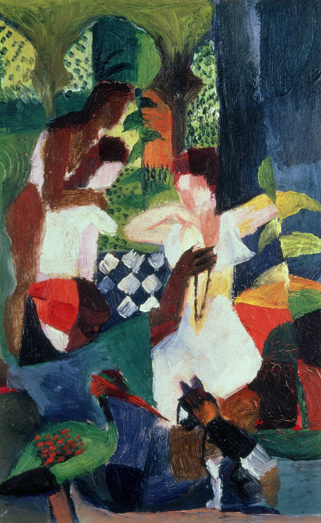 Detail of The Turkish Jeweller by August Macke
