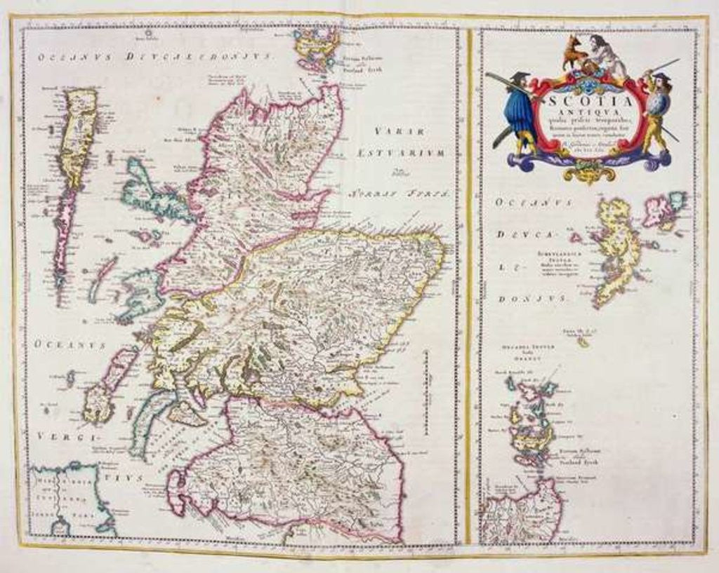 Detail of Map of Scotland by R. Gordon
