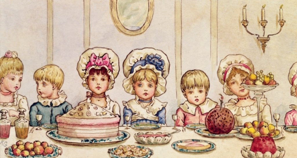 Detail of Supper by Kate Greenaway