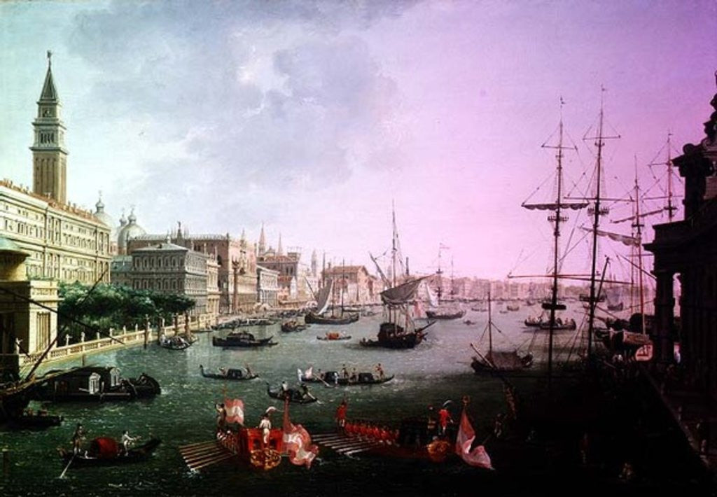Detail of A View of the Grand Canal by Vincenzo Chilone