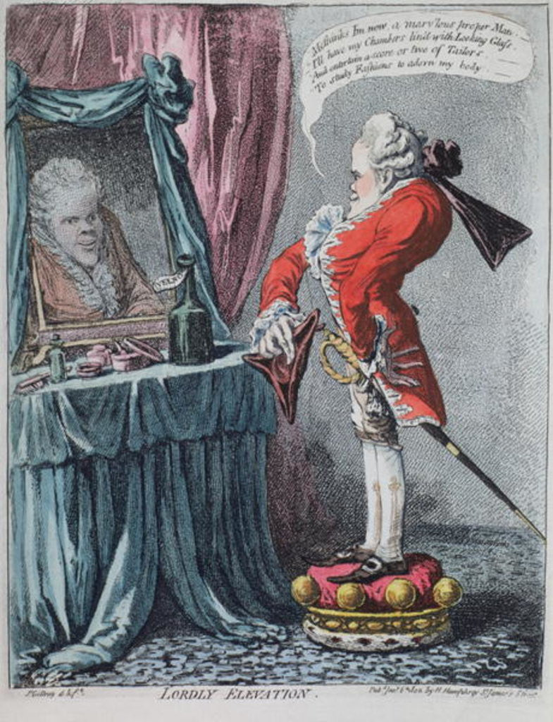 Detail of Lordly Elevation by James Gillray