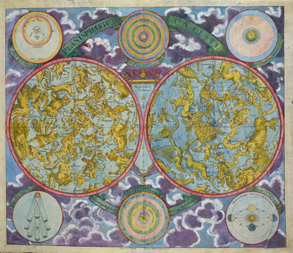 Detail of Celestial Map of the Planets by Georg Christoph II Eimmart
