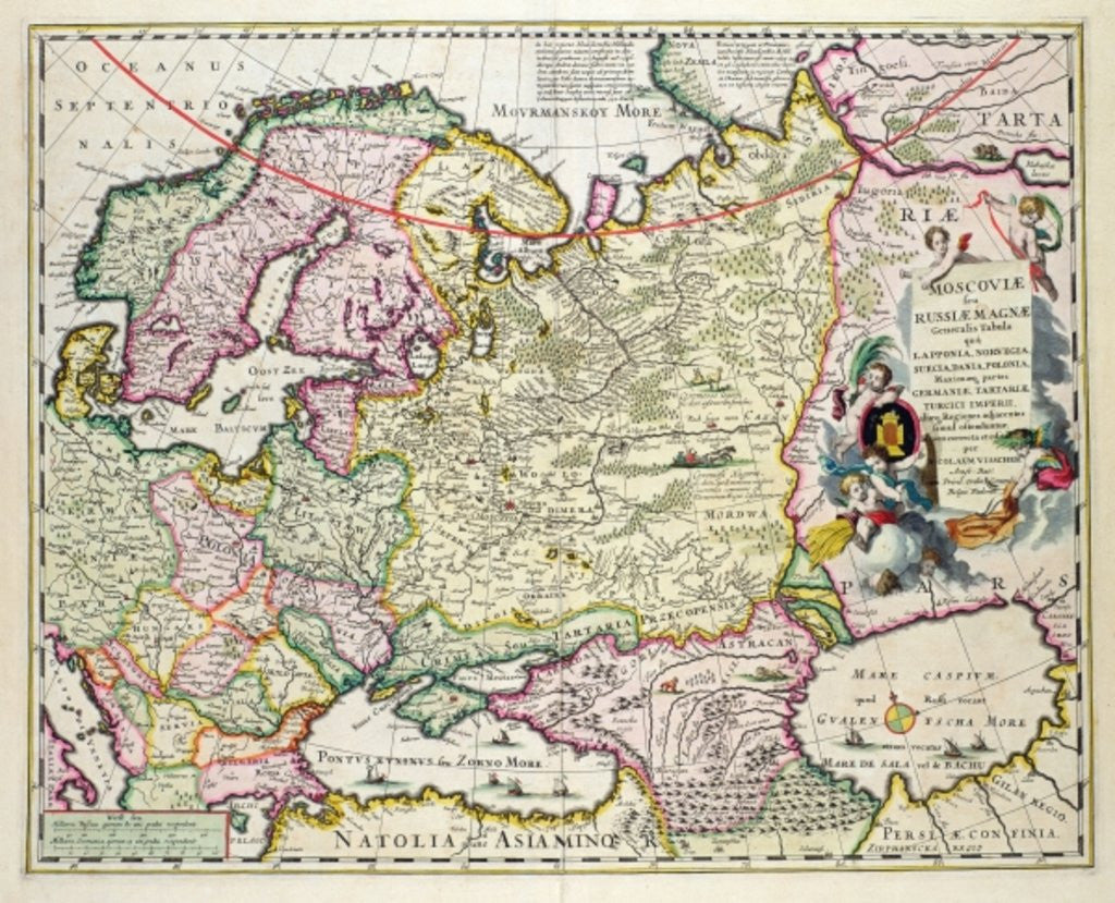 Map Of Asia Minor Showing Norway Sweden Denmark Lapland Poland - Sweden russia map