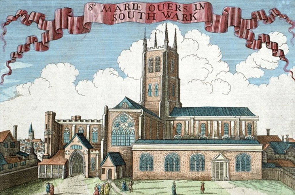 Detail of St. Marie Overie in Southwark by Robert Morden