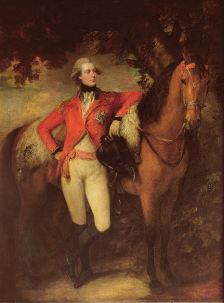 Detail of George IV, as Prince of Wales by Thomas Gainsborough