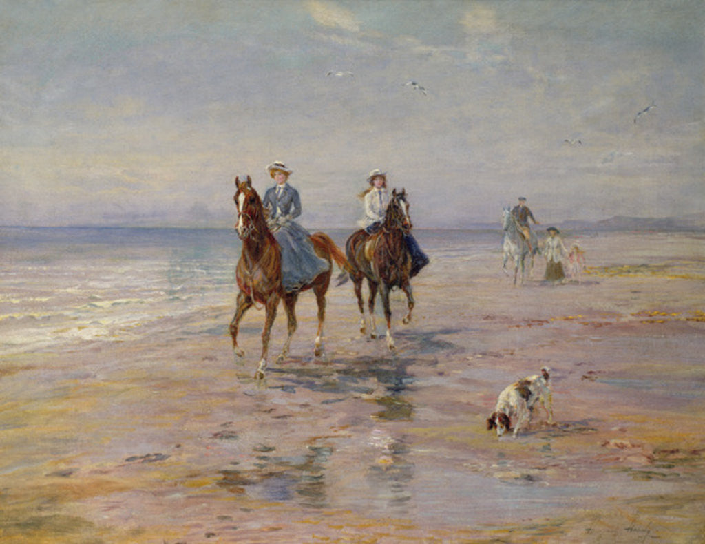 Detail of A Ride on the Beach, Dublin by Heywood Hardy