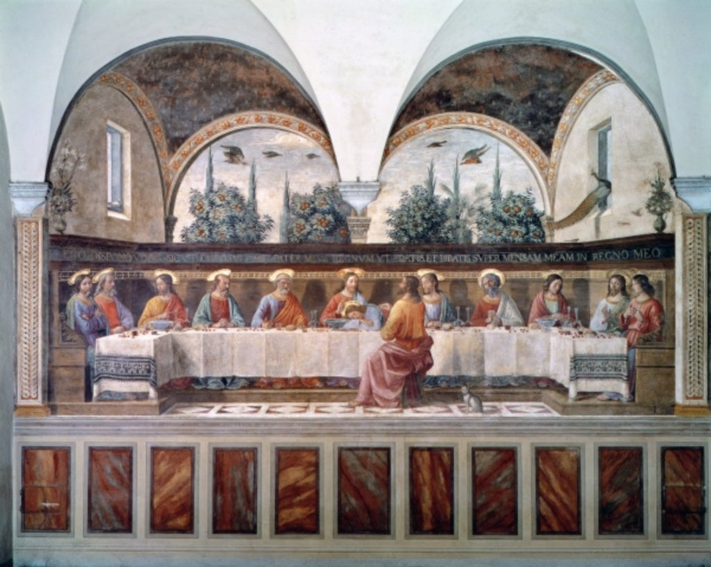Detail of The Last Supper by Domenico Ghirlandaio
