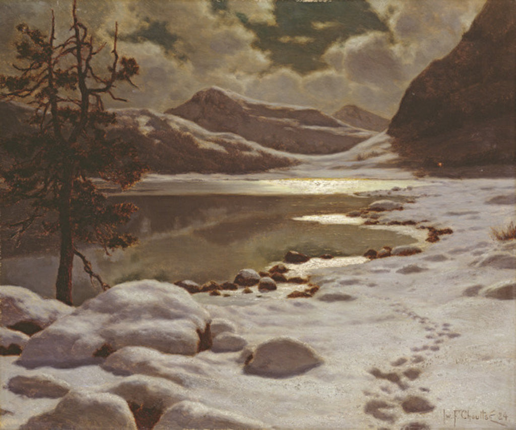Detail of Moonlight in Winter by Ivan Fedorovich Choultse