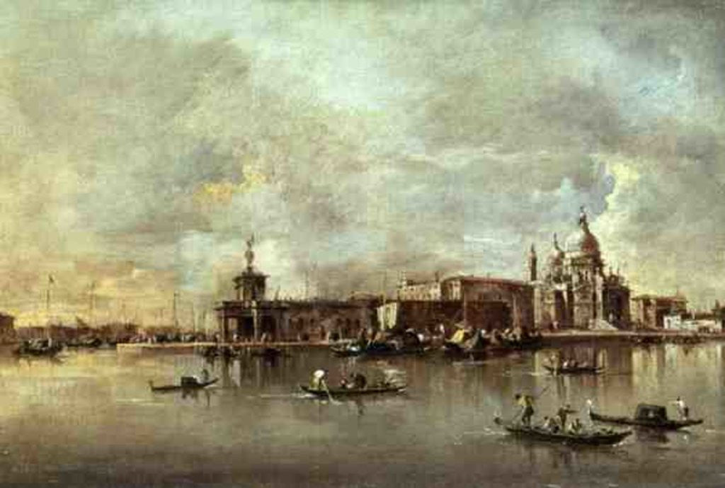 Detail of Santa Maria della Salute seen from the mouth of the Grand Canal, Venice by Francesco Guardi