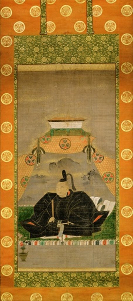 Detail of Portrait of Tokugawa Ieyasu by Japanese School