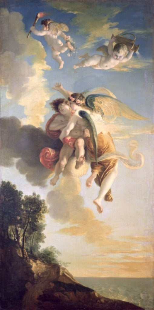 Detail of Aurora Ascending the Heavens by Jean Antoine Julien de Parme