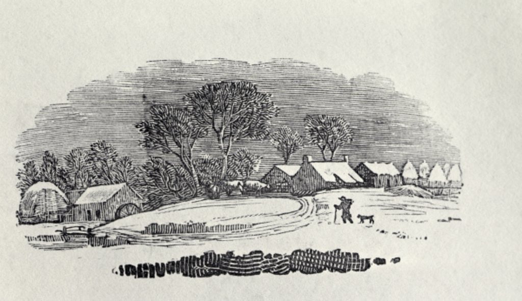 Detail of Approaching a Village in the Winter by Thomas Bewick
