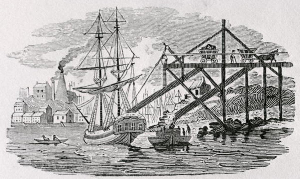 Detail of Loading Coal on Cargo Ships by Thomas Bewick