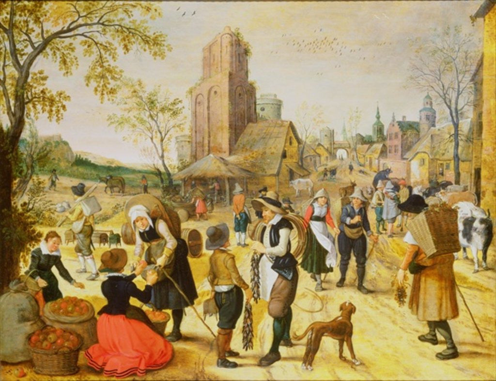 Detail of A Village Kermesse by Sebastian Vrancx