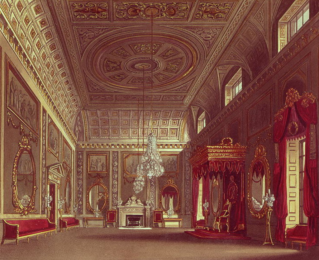 Detail of The Saloon, Buckingham Palace by William Henry Pyne