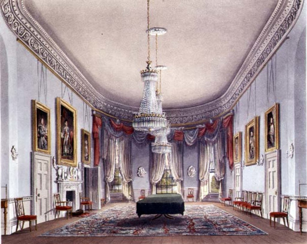 The Dining Room, Frogmore from Pyne's 'Royal Residences'