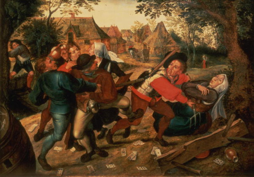 Detail of Gamblers Quarrelling by Pieter the Younger Brueghel