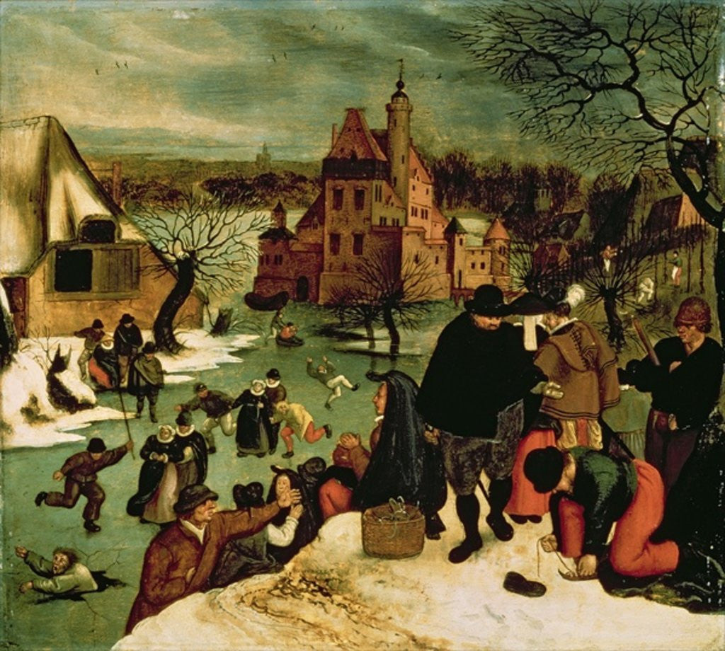 Detail of Winter by Pieter the Younger Brueghel