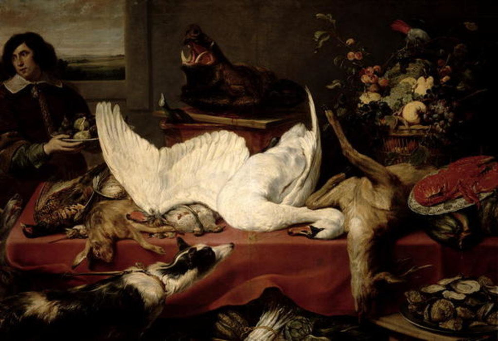Detail of Still Life of Game and Shellfish by Frans Snyders or Snijders