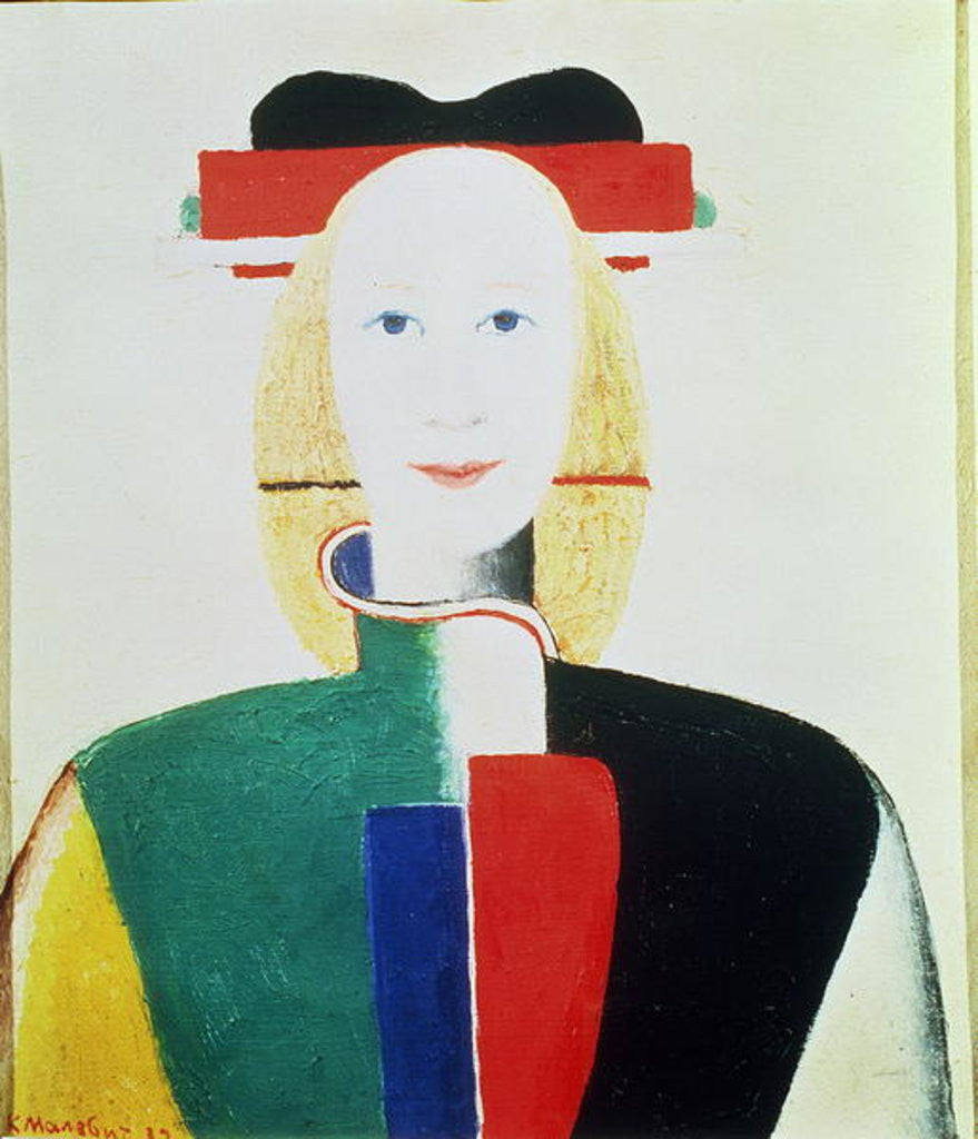 Detail of The Girl with the Hat by Kazimir Severinovich Malevich