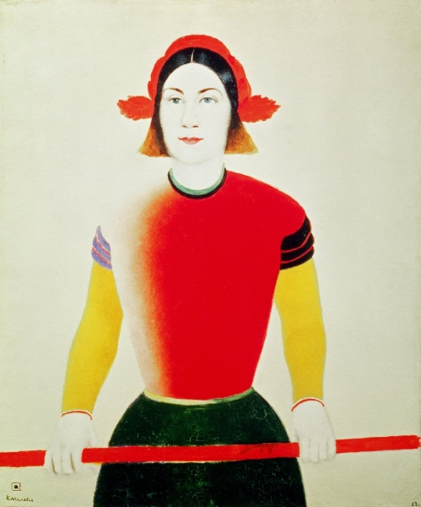 Detail of Girl with a Pole by Kazimir Severinovich Malevich