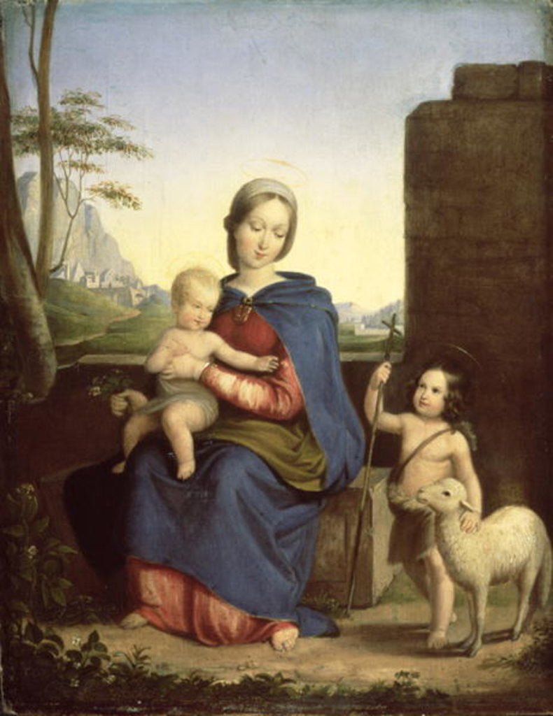 Detail of The Holy Family by Melegh Gabor