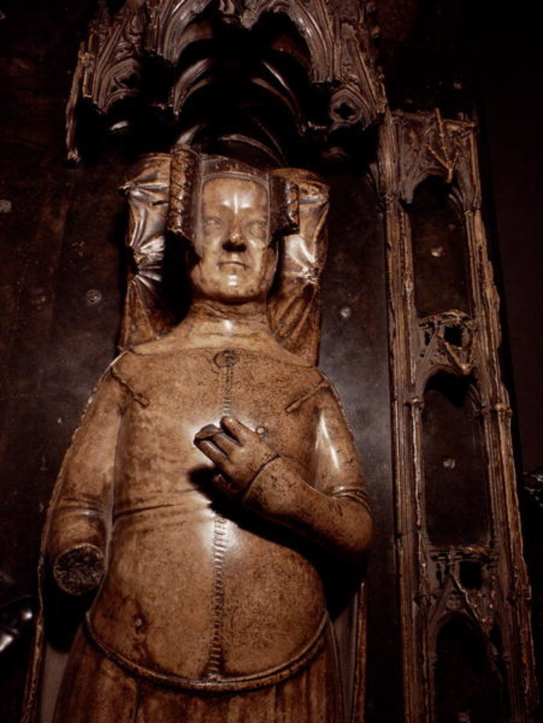 Detail of Effigy of Philippa of Hainault by Jean de Liege