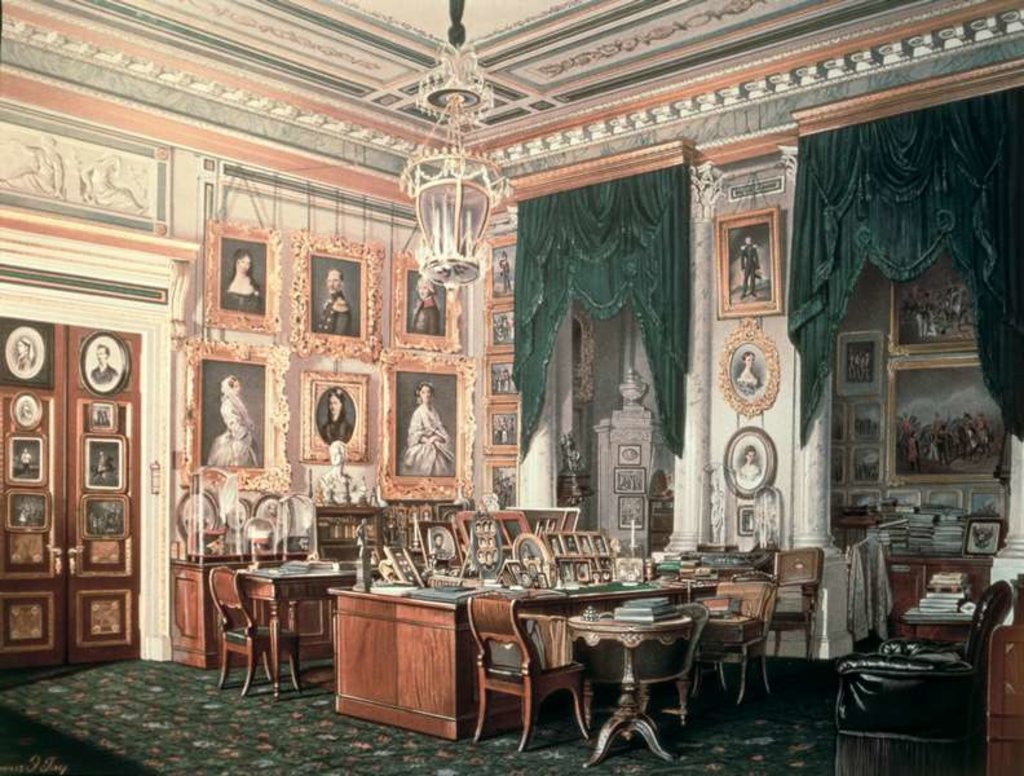 Detail of The Study of Alexander III at Gatchina Palace by Eduard Hau