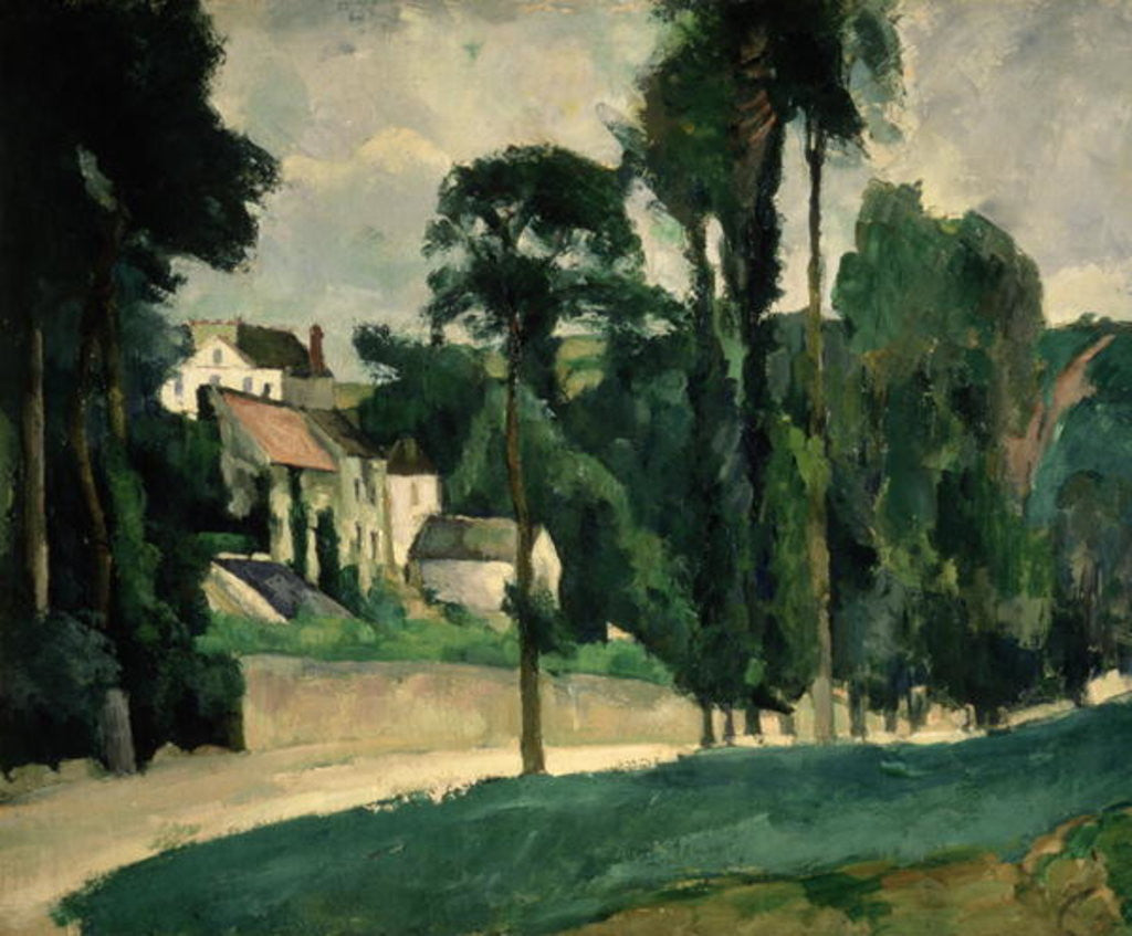 Detail of The Road at Pontoise by Paul Cezanne