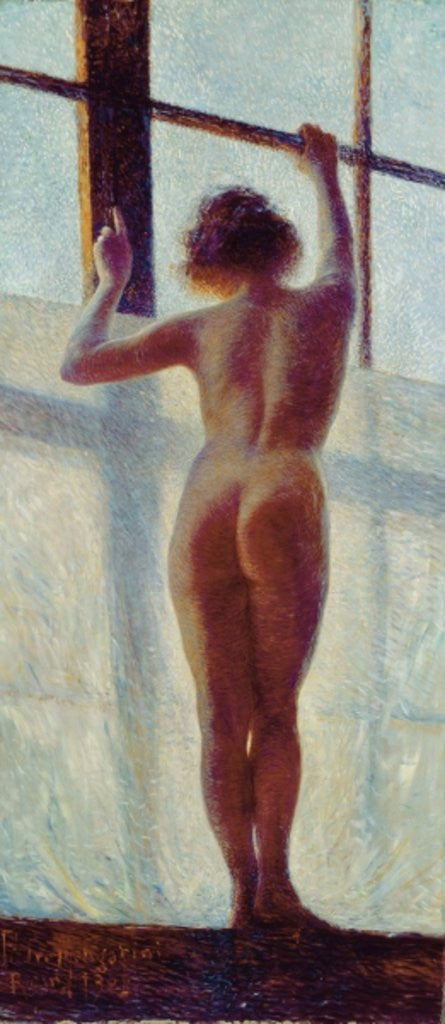 Detail of Nude at the Window by Pietro Mengarini