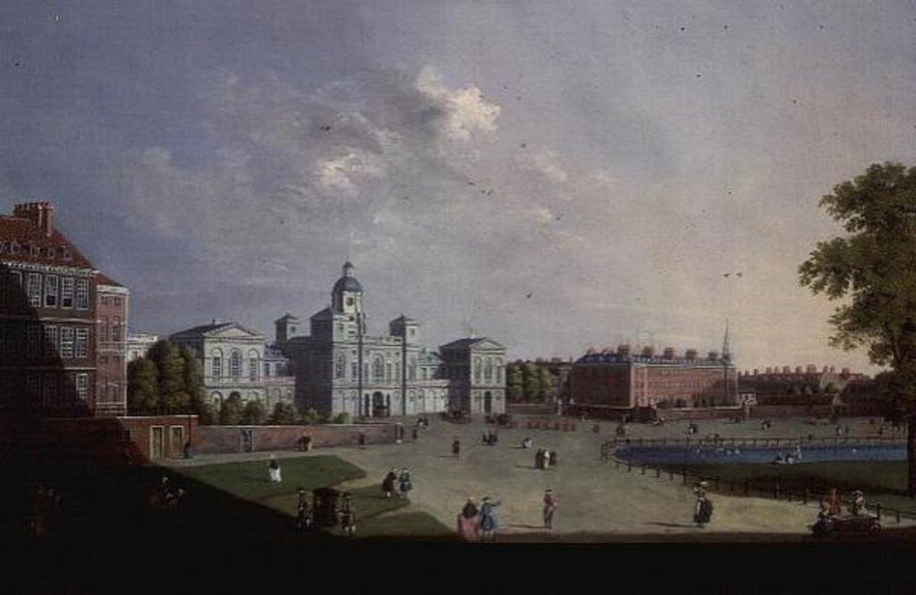 Detail of The Horse Guards Parade, Westminster by William James