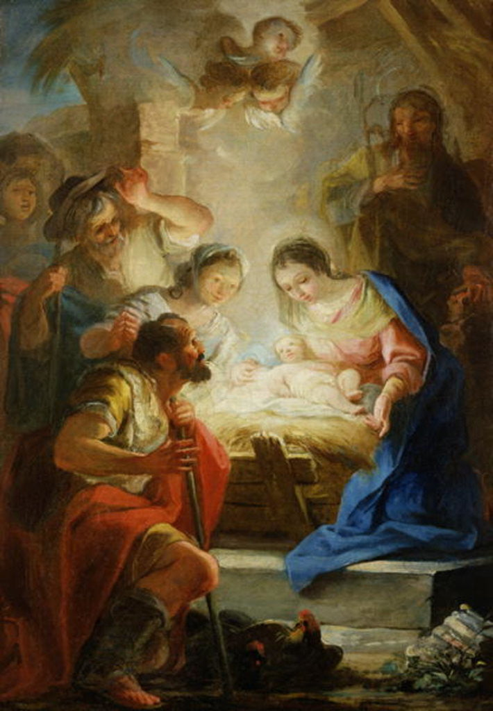 Detail of Adoration of the Shepherds by Mariano Salvador de Maella
