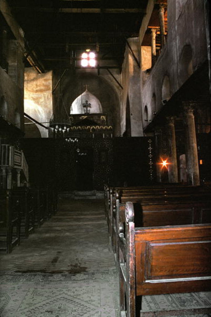 View of the interior of the Church of Saints Sergius and Bacchus by Coptic