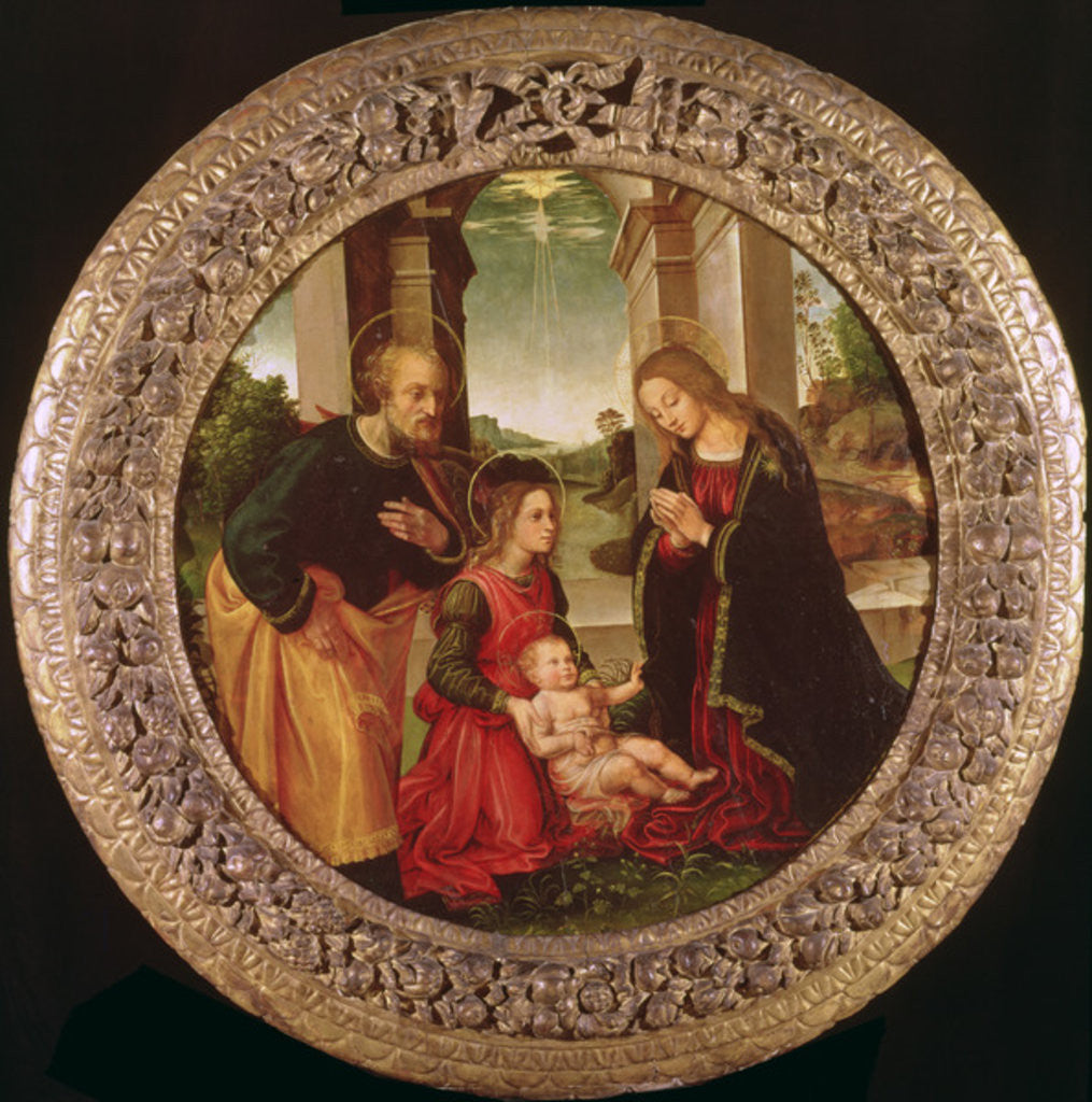 Detail of The Holy Family with an Angel by Capponi