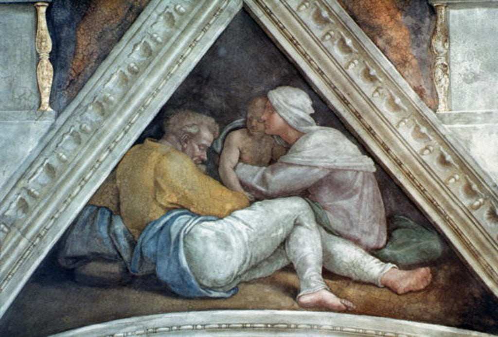 Detail of Sistine Chapel Ceiling: The Ancestors of Christ by Michelangelo Buonarroti