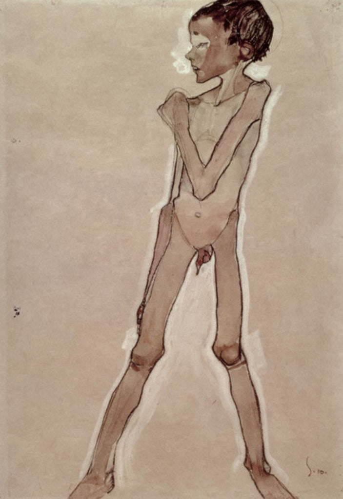 Detail of Nude Boy Standing by Egon Schiele