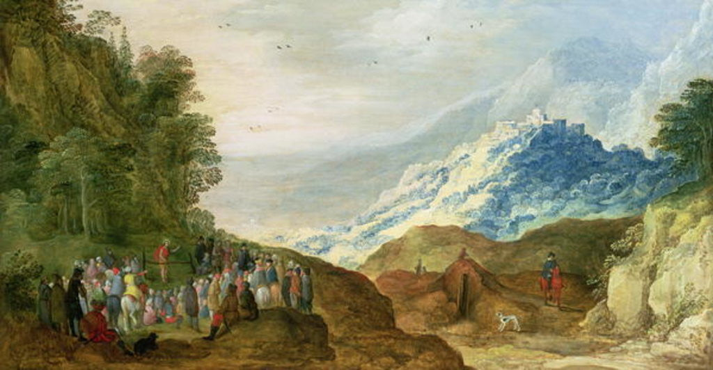 Detail of The Sermon on the Mount by Joos or Josse de