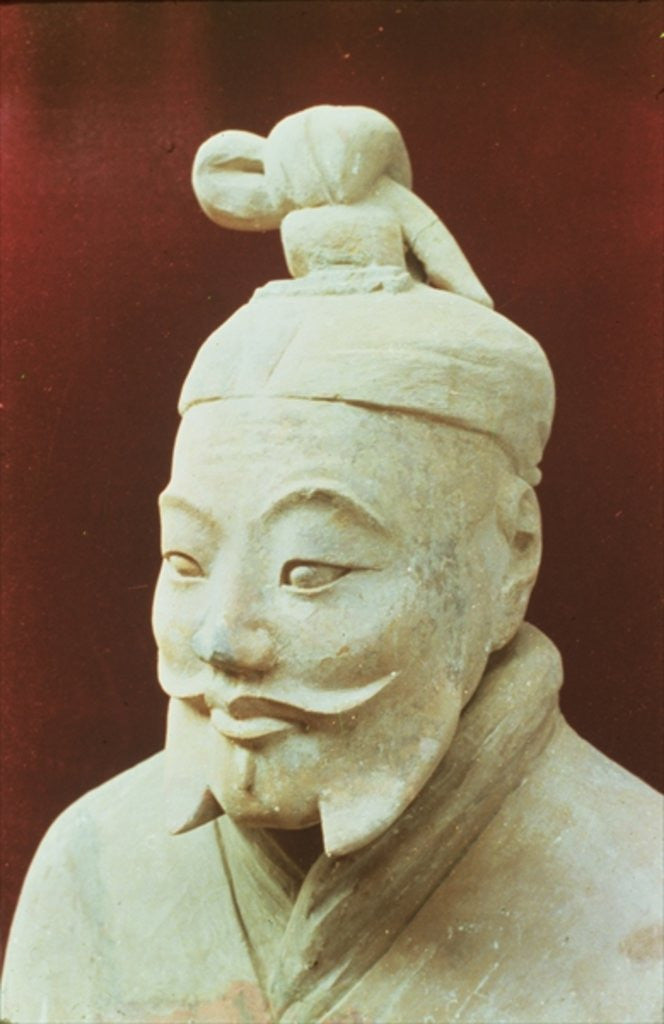 Detail of Head of a warrior, Terracotta Army by Chinese School