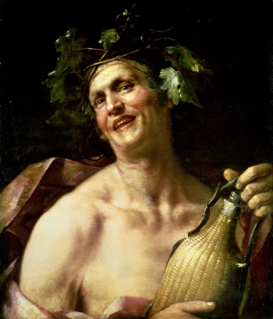 Detail of Self Portrait as Bacchus by Jan van Dalen